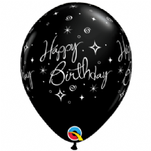 Sparkles Black 6pc - 11 Inch Balloons